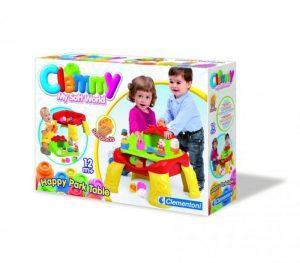 Veselý hrací stolík s kockami a zvieratkami (12 častí)