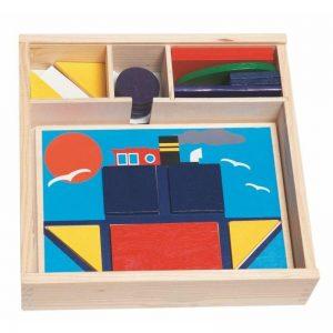 Didaktická vkladačka - 10 obrázkov v drevenej krabičke