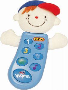 Detský telefón Wayne - svetlo modrý