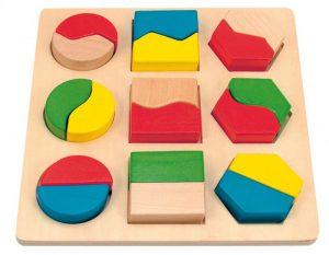 Doštička s geometrickými tvarmi