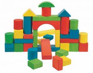 Stavebnice farebné kocky v kartóne