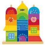 Drevená skladačka - Rainbow - Môj dom