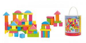 Stavebnica kocky farebné - pastelové