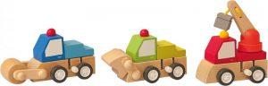 Naťahovacie autíčko - stavebné stroje