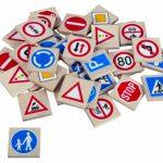 Pexeso drevené - dopravné značky