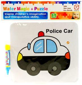 Vodné maľovanie - policajné auto