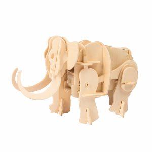 3D puzzle Mamut - robotická hračka - stavebnica Robo Time