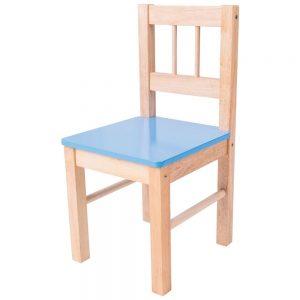 Detská drevená stolička - modrá Bigjigs Toys