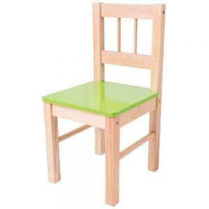 Detská drevená stolička - zelená Bigjigs Toys