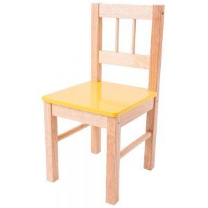 Detská drevená stolička - žltá Bigjigs Toys