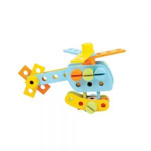 Drevená konštrukčná sada - 51 dielov Bigjigs Toys