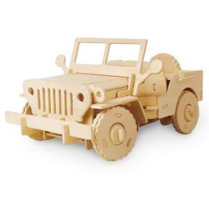 Drevená skladačka - Jeep na diaľkové ovládanie RoboTime
