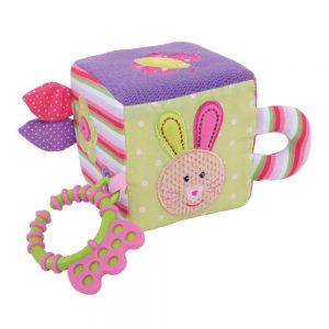 Detská motorická kocka - zajačik, textilná Bigjigs Toys BB503