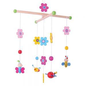 Kolotoč nad postieľku - Kvety a motýle