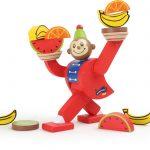 Drevená motorická hračka - balancujúca opička