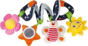 Textilná hračka - špirála pre bábätká