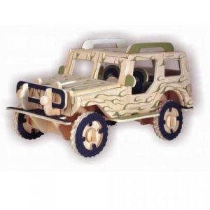 Drevená stavebnica - 3D puzzle - Jeep