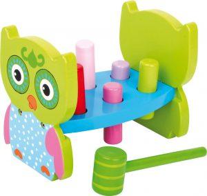 Drevená hračka - zatĺkačka Sova