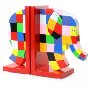 Opierka pre knihy - farebný slon Elmer