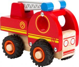 Drevené auto - hasiči