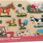 """Drevené puzzle """"Farma"""""""