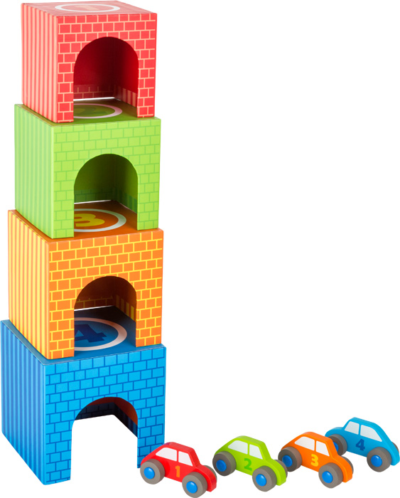 """Drevená veža """"Garáže s autíčkami"""""""