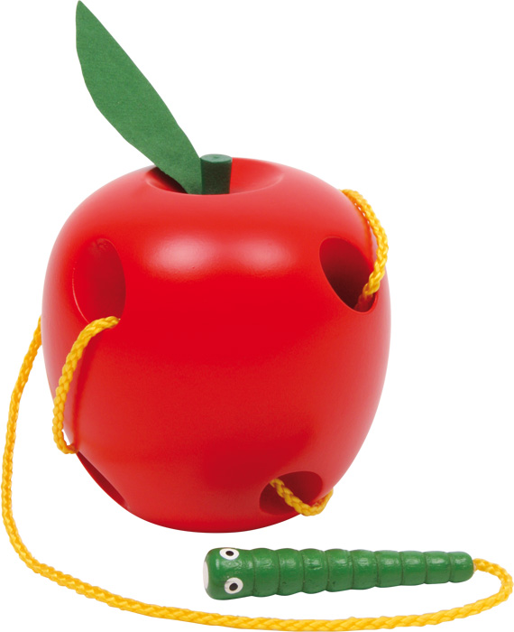 """Drevená hračka """"Prevliekacie jablko"""""""