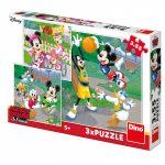 Puzzle Mickey a Minnie športovci 3x55D Dino