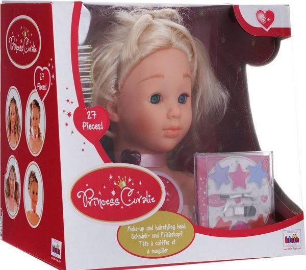 Česacia hlava s líčením Princess Coralie Klein