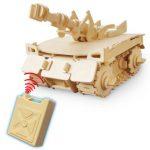 Drevena skladacka Tank na dialove ovladanie RoboTime
