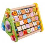 Aktívny trojuholník s angličtinou drevený Bigjigs Toys