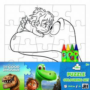 Puzzle maľovanky Dobrý dinosaurus Jiří Models