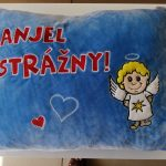 Plyšový vankúš Anjel strážny ALBI