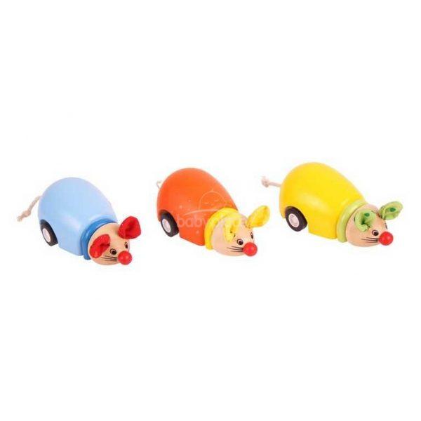 Drevená hračka jazdiace myši BIGJIGS toys BJ988