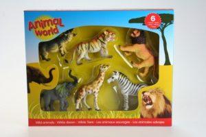 Divoké zvieratká 6 ks v boxe Johntoy