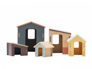 Domčeky drevené sada 5 ks Edvin Kids Concept 1000202KC