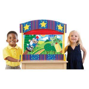 Stolové drevené bábkové divadlo