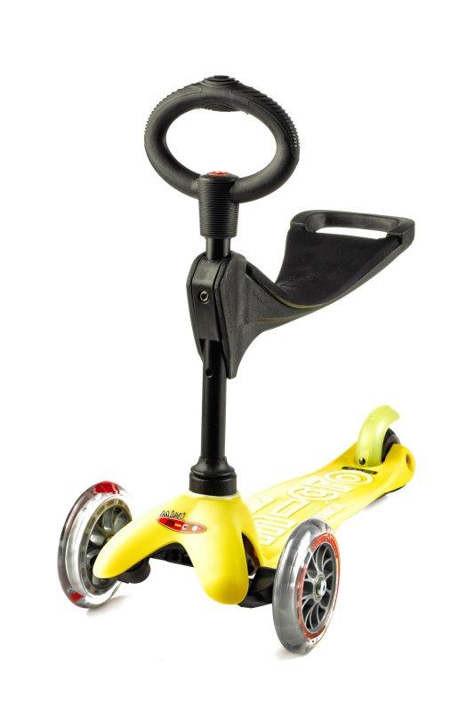 Detské odrážadlo a kolobežka Mini Micro Deluxe 3v1 Yellow
