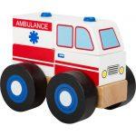 Drevené skladacie auto Ambulancia Small Foot Legler 11074