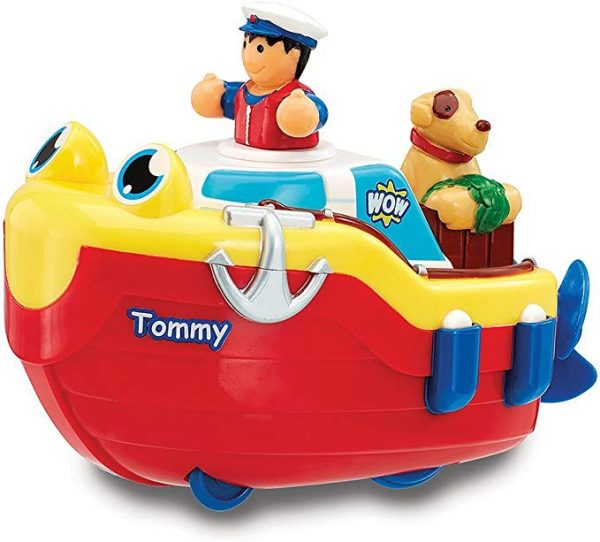 Natahovacia lodka Tommy do vane a na tlacenie WOW Toys
