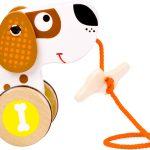 Ťahací drevený pes Small Foot Legler LE10043