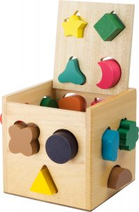 Detská drevená vkladacia kocka Small Foot Legler LE1080