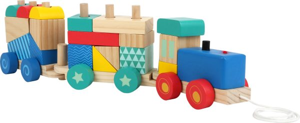 Dreveny vlak na skladanie Small Foot Legler LE11128