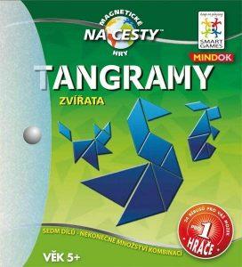 Magnetická hra Tangramy Zvieratá Smart Games 136