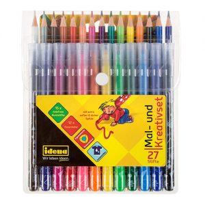 Kreatívna sada Fixy a pastelky 27 ks Idena 1667058