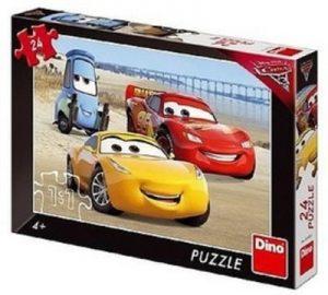 Puzzle Autá Cars 3 Na pláži 24 dielikov