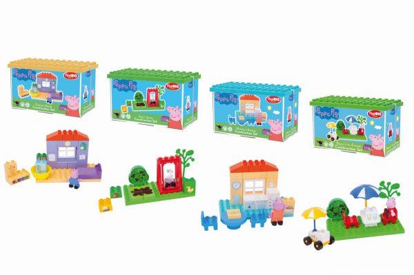 Peppa Pig Stavebnica Základný set 4 druhy PlayBig Bloxx