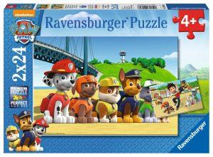 Puzzle Labková Patrola: Statoční psi 2x24 dielikov Ravensburger 2409064.jpg