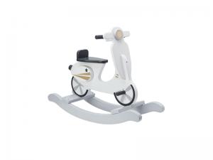 Hojdací skúter drevený sivo biely Kids Concept 1000160KC