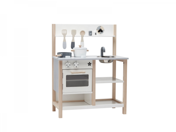 Kuchynka drevená natural biela Bistro Kids Concept 1000161KC